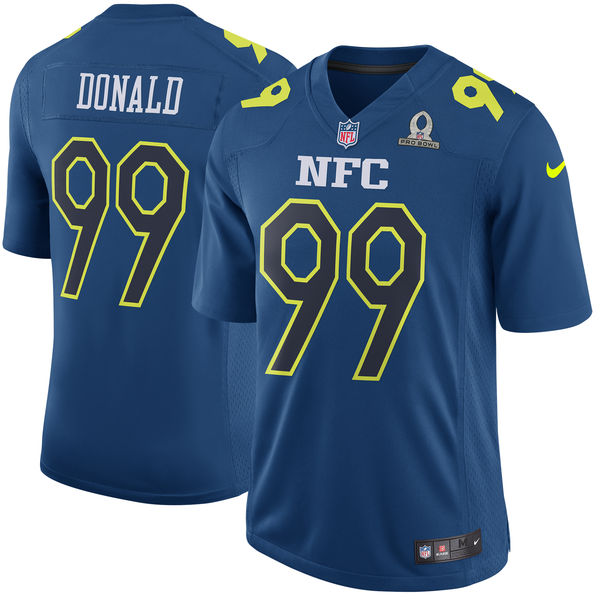 2017 Pro Bowl Aaron Donald NFC Navy Jerseys